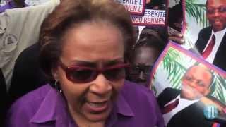 VIDEO: Haiti Manifestation 16 Desanm 2014 - Maryse Narcisse te la, Arnel Belizaire ak zot
