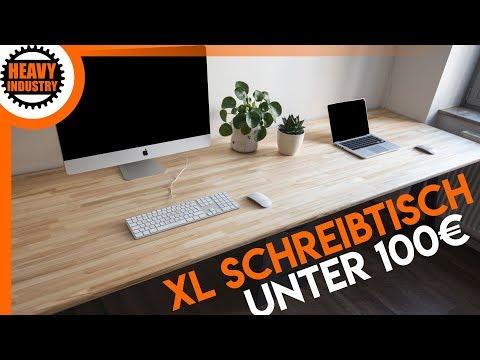 10:17 XL Schreibtisch Für 100u20ac Selber Bauen (für Anfänger)
