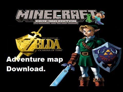 MineCraft xbox 360 edition: Zelda Ocarina of time adventure map download