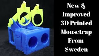 New & Improved 3D Printed Mousetrap Invented By a Youtube Viewer From Sweden. Mousetrap Monday.