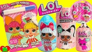 LOL Dolls Surprise Eggs Coloring Games Hair Goals Surprises and Fuzzy Pets