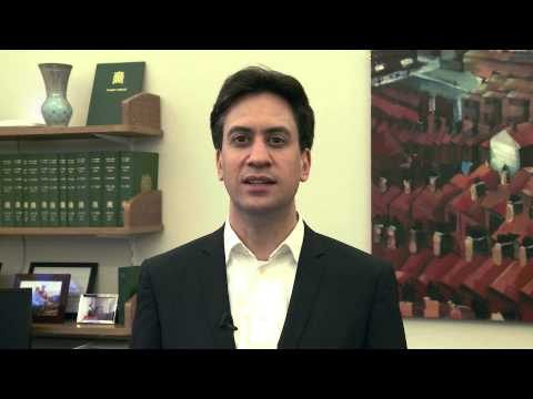 Message of Support - The Leader of the Opposition, Rt Hon Ed Miliband MP