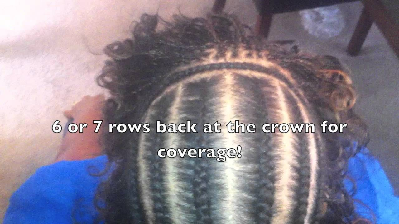 Sew In with Deep Wave Micro Braids - YouTube