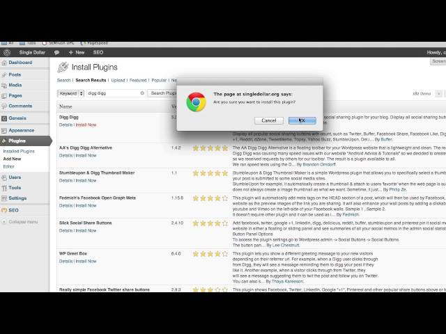 How To Install A WordPress Plugin | How To Start A Blog Video Tutorial Series
