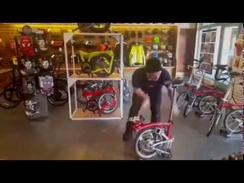 Speed Brompton unfold by Ash at Cycle Heaven YS