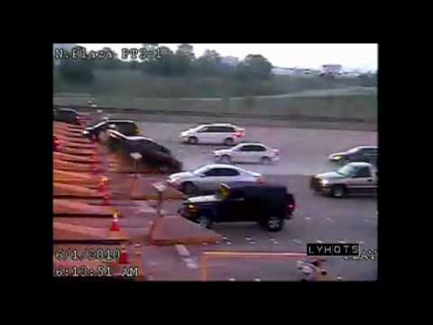 Toll Booth Car Crash at DALLAS/FT. WORTH Airport [BEST QUALITY VIDEO AND PICTURES]