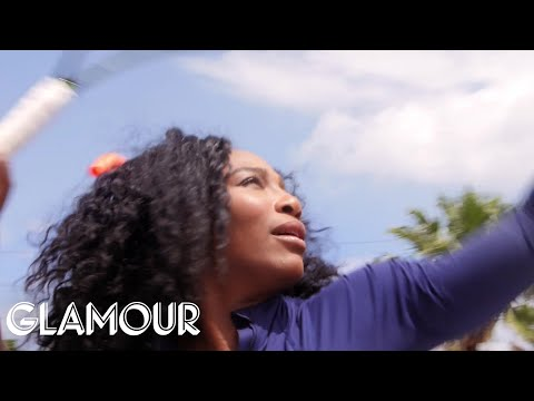 Serena Williams Pelts a Heckler With Tennis Balls | Cover Stars | Glamour