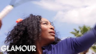 Serena Williams Pelts a Heckler With Tennis Balls | Glamour