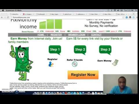 Fixmonthlyincome.com Scam Review   Wondering If This SItes Is A Scam? Watch My Review Video