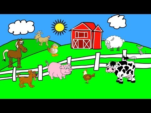 Animals On The Farm - Animal Sounds - Learn The Sounds Farm Animals Make video