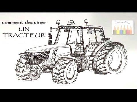 comment dessiner un tracteur - 2ème partie (2/2) - HD - YouTube