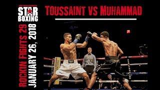 Rockin' Fights 29: Wendy Toussaint v Saadiq Muhammad