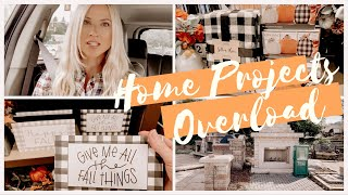 DAY IN THE LIFE | HOUSE PROJECTS | FALL DECOR SHOP WITH ME AND HAUL