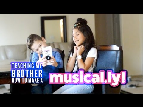 TEACHING MY BROTHER HOW TO MAKE A MUSICAL.LY | Txunamy