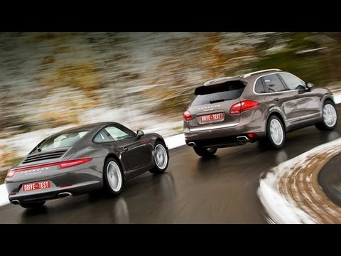 2013 Porsche Cayenne S Diesel V8 и 2013 Porsche 911 Carrera 4S Cabriolet / Тест -драйв