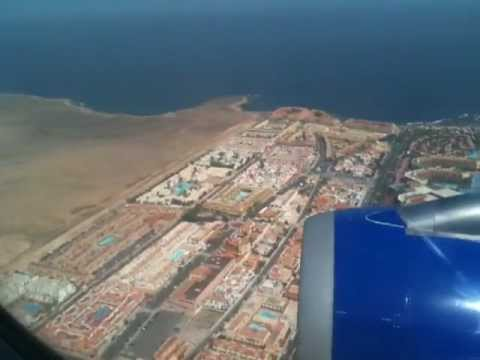 Crazy landing at Fuerteventura Airport
