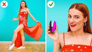 AWESOME CLOTHES HACKS FOR GIRLS TO AVOID AWKWARD MOMENTS || Life Hacks To Overcome Clothing Fails!