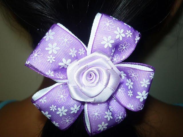 Paso a paso de flores en cintas para el cabello . vídeo No.005 ...