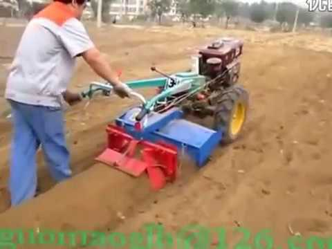 farm Implement: Ridger for walking tractor working