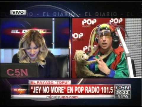 C5N - DUPLEX ENTRE EDUARDO FEINMANN Y EL PAYASO TOPU EN POP...