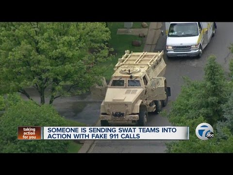 Someone is sending SWAT teams into action with fake 911 calls