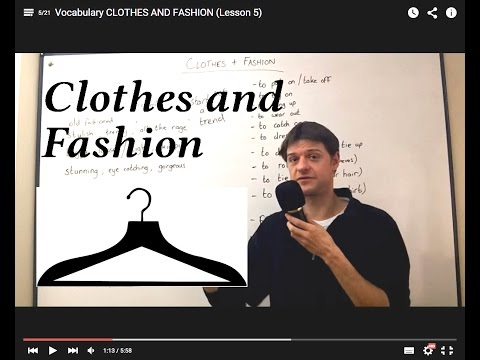 Vocabulary CLOTHES AND FASHION (Lesson 5)