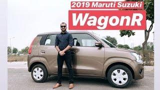 2019 Maruti Suzuki WagonR 1.2 ZXi - Exterior Design Review (Hindi + English)