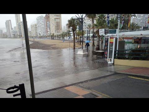 Its Raining On Levante Beach Benidorm