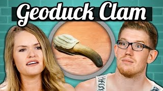 IS THAT WHAT I THINK IT IS?! | College Kids Vs. Food - Geoduck