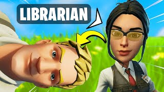 I Pretended I'm Playing in the LIBRARY and Got in Trouble (Fortnite)
