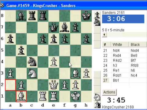 Chessworld.net : Blitz #250 vs. Sanders (2161) - Sicilian Defense : Smith-Morra gambit (B21)