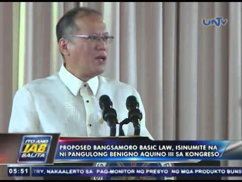 Proposed Bangsamoro Basic Law, isinumite na ni Pres. Aquino sa Kongreso