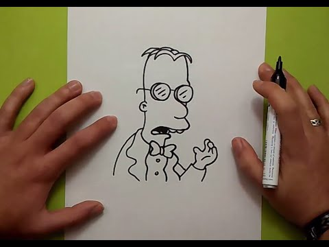 Como dibujar al Prof.Frink paso a paso - Los Simpsons   How to draw Prof.Frink - The Simpsons