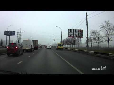 авария с колесом на Братеевском мосту 06/11/2014
