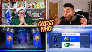 I PACKED A HUGE TEAM OF THE GROUP STAGE!!! FIFA 19 GUESS WHO CHALLENGE!!! Advent Giveaway Day 4