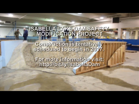 Corps tests new Isabella Lake Dam model