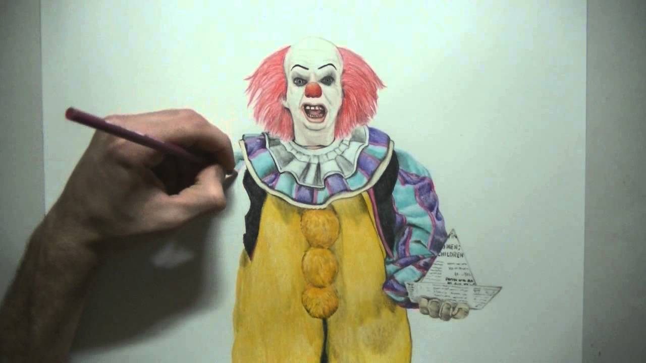 Special T Si >> Draw Halloween Characters - Pennywise The Clown - Stephen King's - YouTube