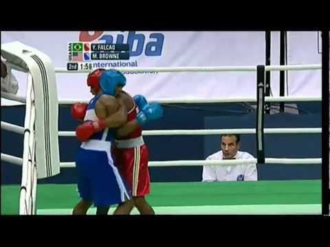 Light Heavy (81kg) Final - Falcao (BRA) vs Browne (USA) - 2012 American Olympic Qualifying Event