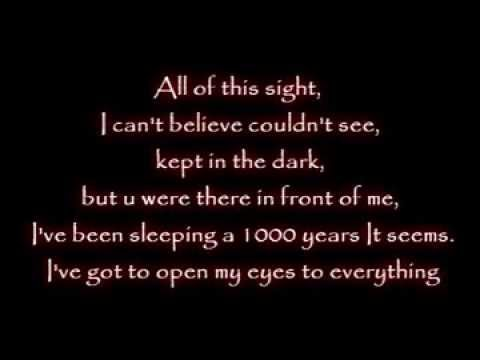 Evanescence - Wake Me Up Inside [lyrics] video
