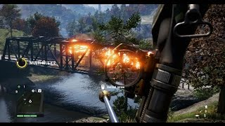 Far Cry 4 - Explosive Arrow Ambush on Bridge Convoy