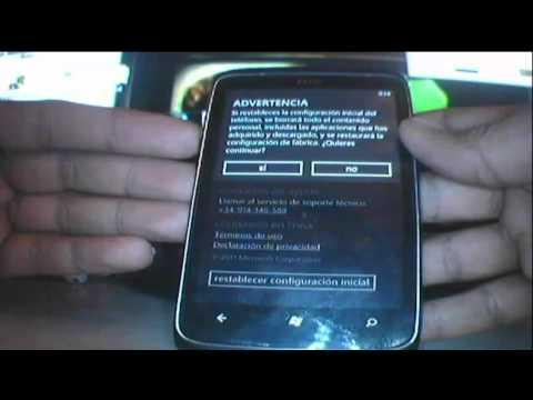 Como restablecer a la configuración inicial (Hard Reset) a tu  Windows Phone