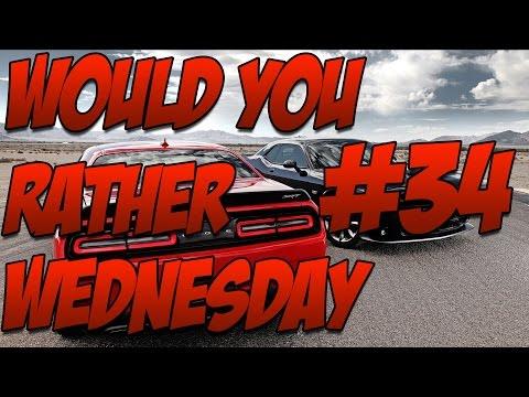 Would You Rather #34 W  Kim Kardashian Sex Tape, Ebola, Srt Hellcat, Kidney Stones & More! video