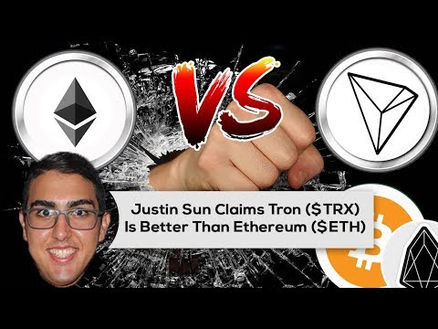Justin Sun Claims Tron ($TRX) Is Better Than Ethereum ($ETH)