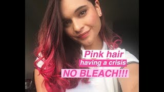 HOW I DYED MY BROWN HAIR PINK USING MANIC PANIC