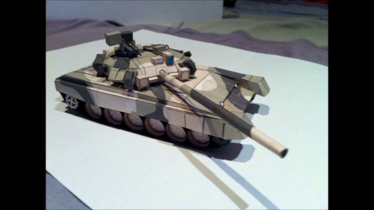 Como hacer una maqueta de papel tanque t 90 battlefield 3 for Como construir una pileta de agua