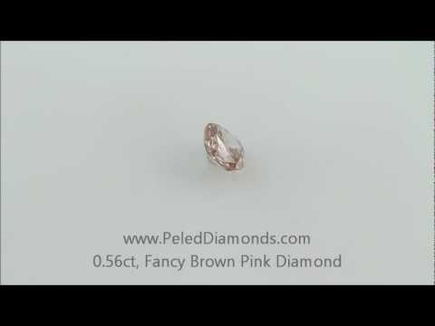 1790 Fancy Brown Pink Diamond, 0.56 carat