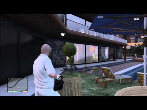 GTA 5 - When Michael shoots Franklin's place - Free Roam (HD)