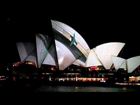 Sydney - vivid festival 2012 : 1080p HD - Lighting the sails