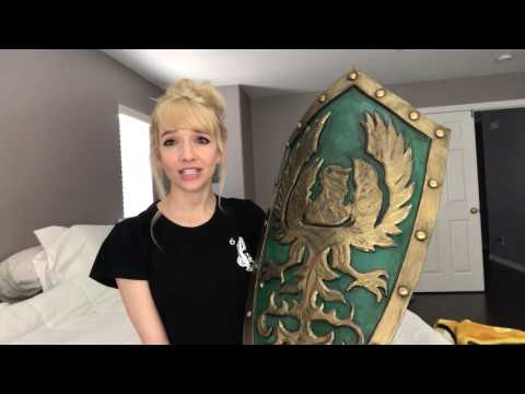 Dark Souls III Golden Wing Crest Shield   How to Make a Curved Cosplay Shield