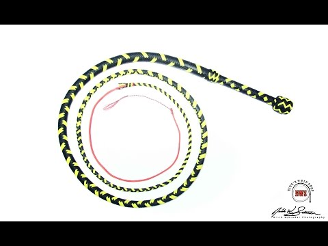 The Making of an 8.5ft. 18 Plait. Nylon Bullwhip  - Nick's Whip Shop